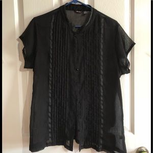 Like new black sheer blouse size XX large Maurices